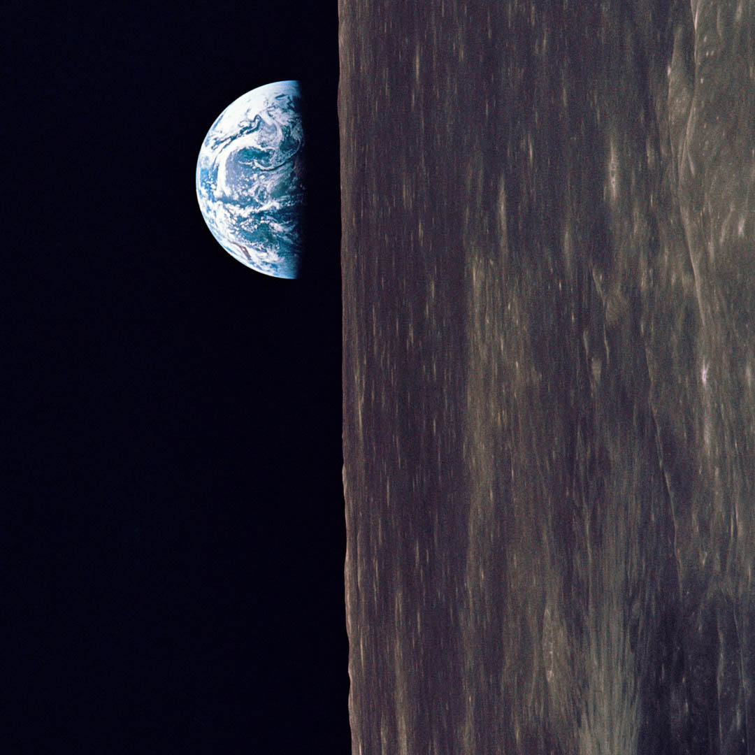 Earth Rise with Apollo 10